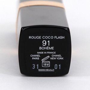 CHANEL Lip Color ROUGE COCO FLASH Boheme 91 NEW